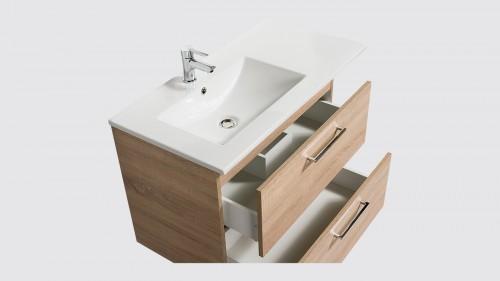 Ensemble de salle de bains Evoluti NATURA L.90 cm bois naturel