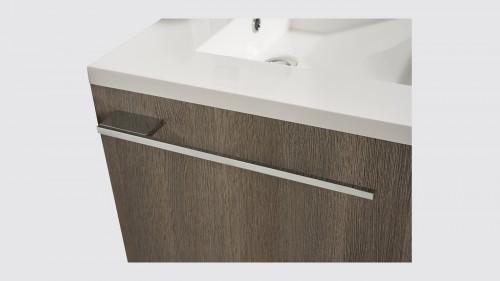 Porte-serviette de salle de bains Evoluti L.38 cm en métal chromé brillant