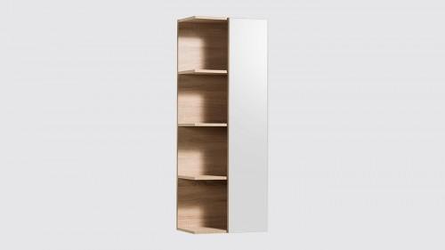 Meuble colonne suspendue de salle de bains Evoluti NATURA bois naturel hauteur 120 cm