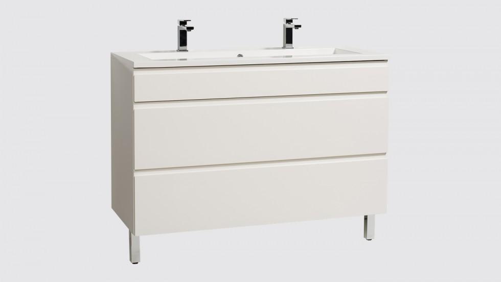 Meuble de salle de bains Evoluti LUMY reposant L.120 cm blanc éclat