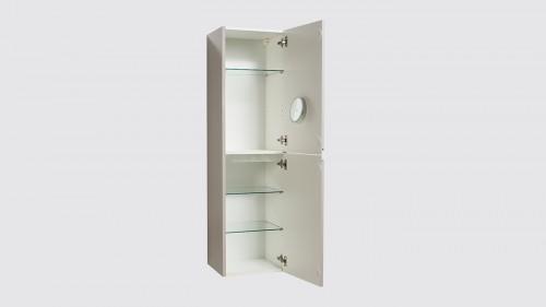 Meuble colonne suspendue de salle de bain Evoluti LUMY blanc éclat hauteur 144 cm