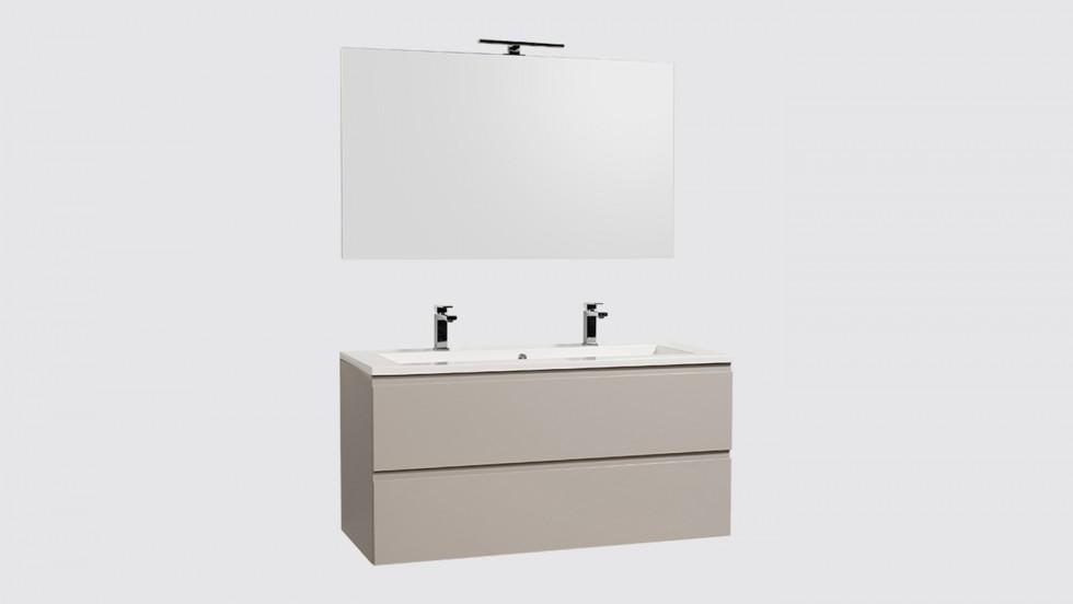 Ensemble de salle de bains Evoluti LUMY suspendu L.120 cm gris lumière